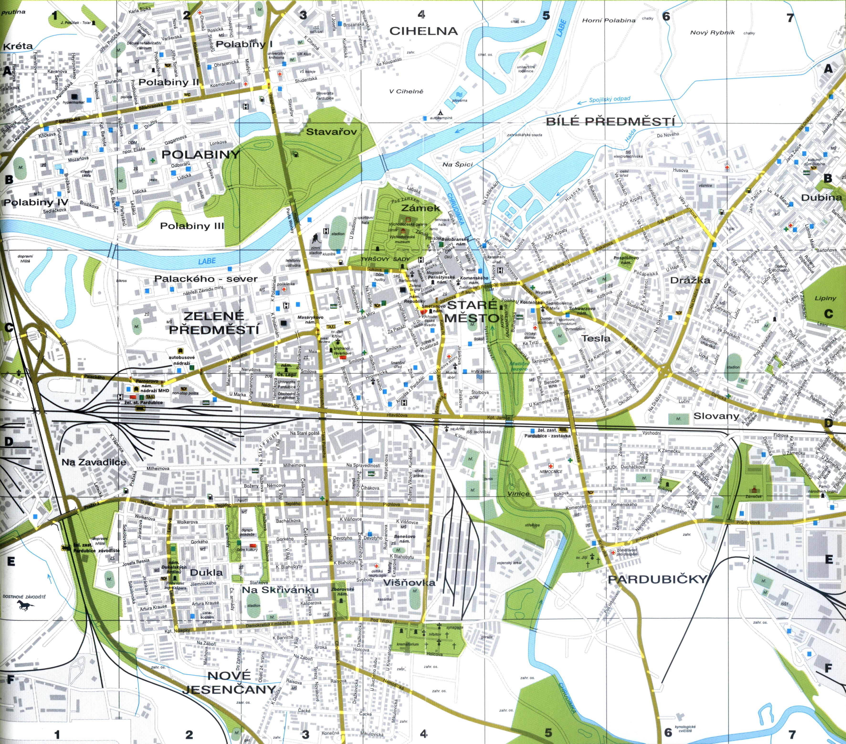 Mapa Pardubice Mapa Ulic